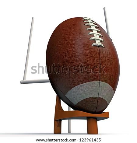football ball isolated on white background - stock photo