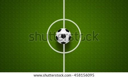 Football ball on grass, represents football championship, three-dimensional rendering, 3D illustration