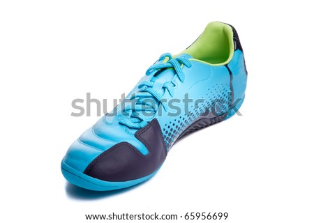 Football boots. Soccer boots. Isolated on white.
