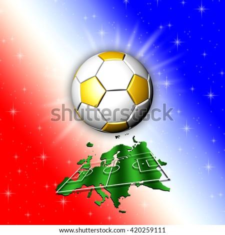 Football Championship Europe Map - stock photo
