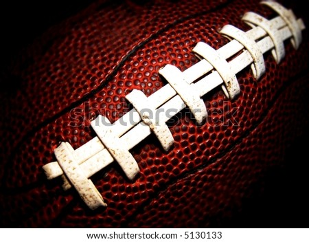 football close-up - stock photo