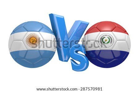 Football competition, national teams Argentina vs Paraguay - stock photo