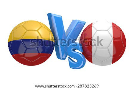 Football competition, national teams Colombia vs Peru - stock photo
