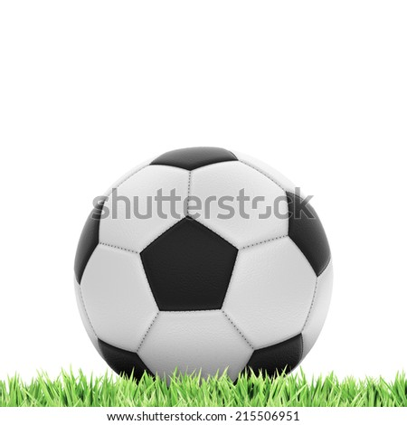 Football concept with a lot of space for a background of your choice - stock photo