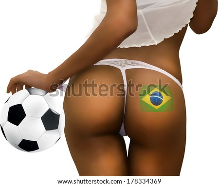 Football Fan Playing with a Soccer Ball - stock photo