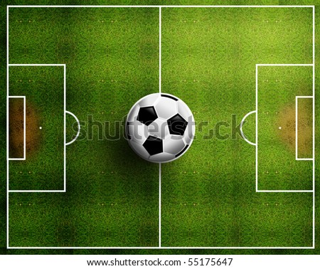 football field - stock photo