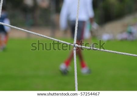Football field. - stock photo