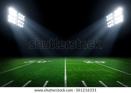 Football field at night