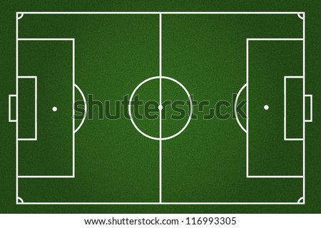 Football field background - stock photo