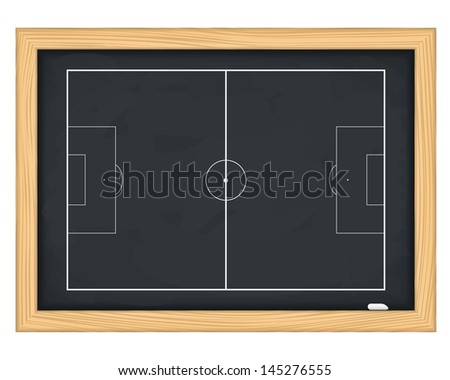 Football field on blackboard