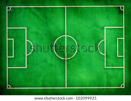 football field on grunge texture paper - stock photo