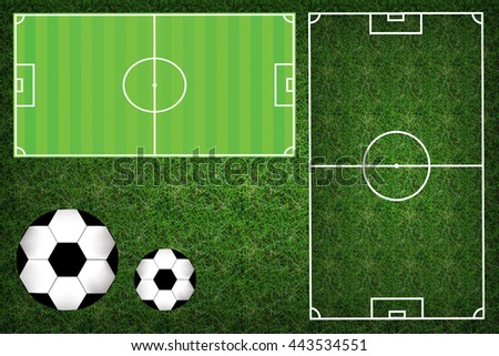 Football field or soccer field, Green grass texture pattern of football stadium background. - stock photo