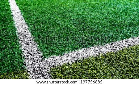 Football field Outdoor , football field of colorful - stock photo