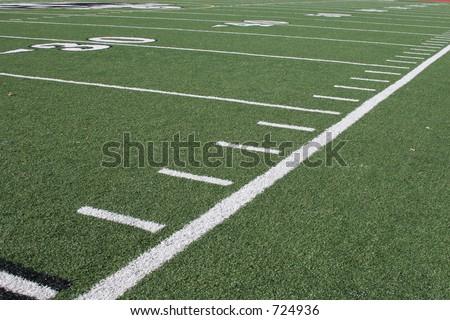 Football field - side lines - stock photo