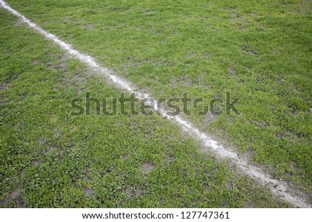Football field, soccer field detail, stadium for football, sport, competition