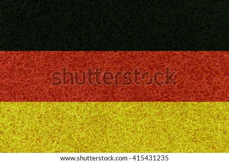 Football field textured by Germany national flag on euro 2016 - stock photo