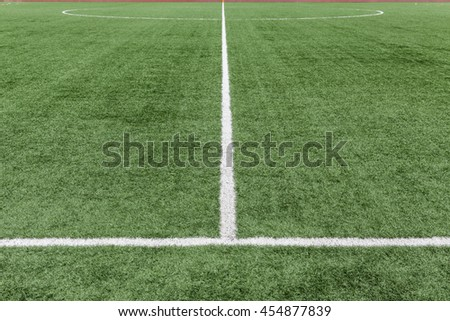 football field with artificial grass