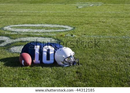 Football field with copy space - stock photo