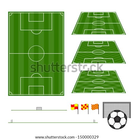 Football Fields Vertical and Diagonal Patterns - stock photo