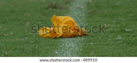 football flag - stock photo