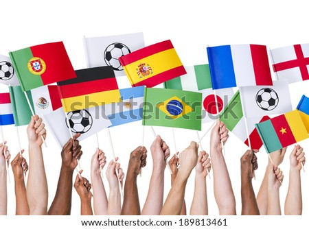 Football Flags - stock photo