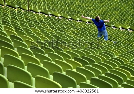 Football. Football - football fan. Football.  Football fan in football stadium. Football.. Football.. Football - World football cup concept.Football. - stock photo