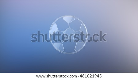 Football Glass 3d Icon