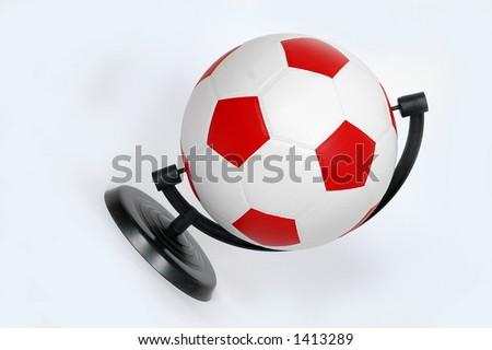 football - globe... - stock photo