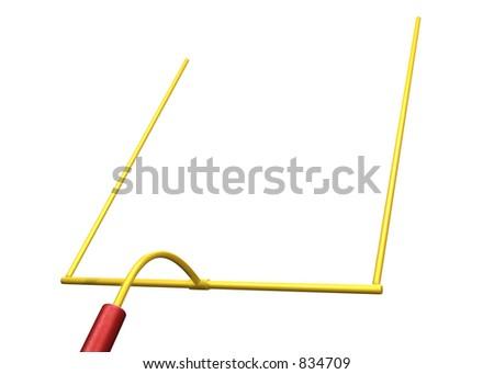 FootBall Goal Post 3D - stock photo