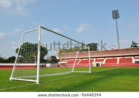 football goals - stock photo