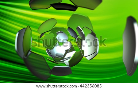 football green sport abstract background