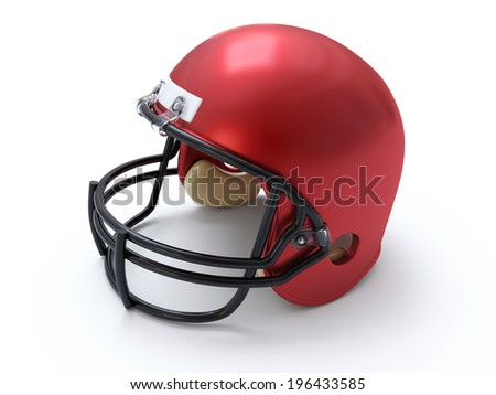 Football Helmet - stock photo