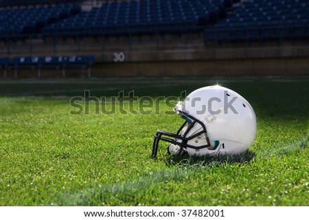 Football Helmet at the Stadium