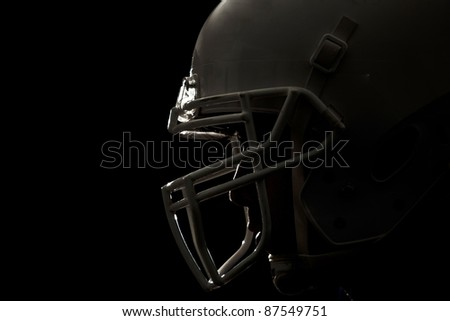Football helmet closeup - stock photo