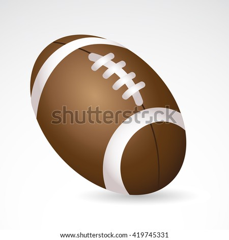 Football icon isolated on white background.