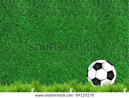 football illustrator on grass texture
