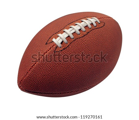 Football isolated on a white background as a professional sport ball for traditional American and Canadian game play on a white background. - stock photo