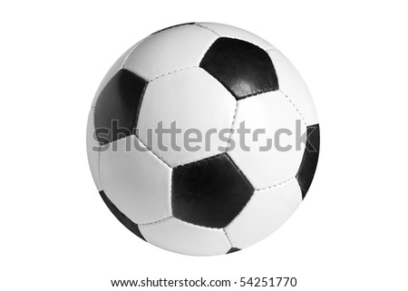 Football isolated on the white background - stock photo