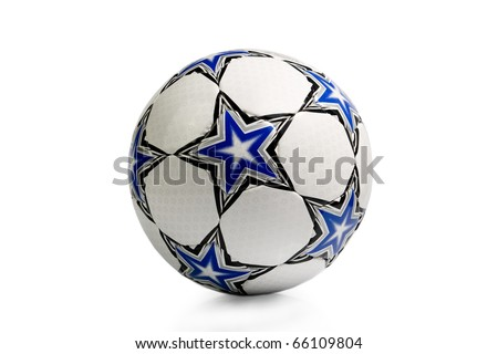 Football. Isolated on white background. - stock photo