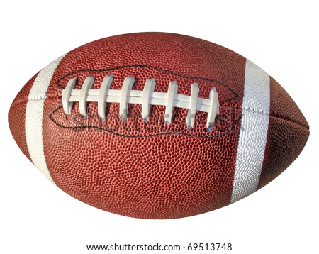 Football isolated on white with clipping path. - stock photo