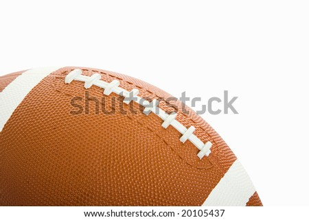 Football isolated on white with room for text.