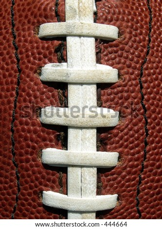 football laces - stock photo