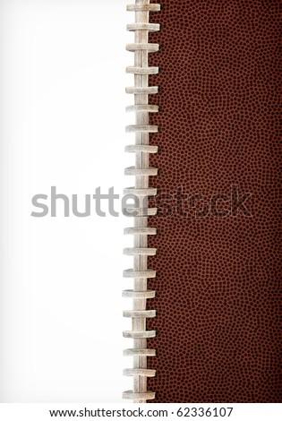 Football Laces Layout Extra Large Size - stock photo