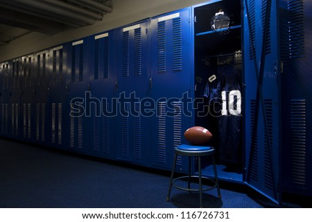 Football Locker Room - stock photo