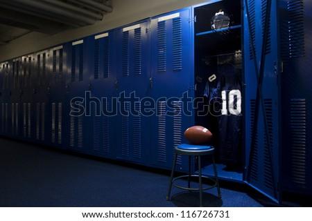 Football Locker Room - stock photo