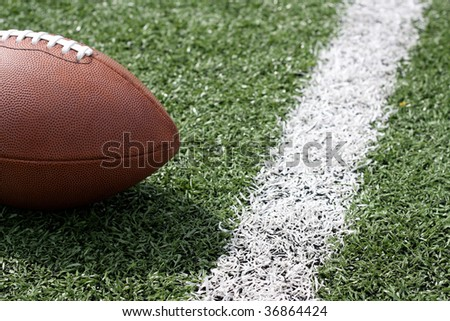 Football near first down - stock photo