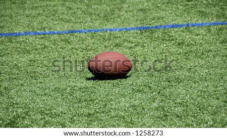 Football on a Field