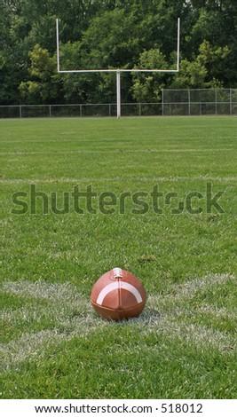 football on field - stock photo