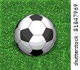 Football on grass. Grass - seamless. Raster version. - stock photo