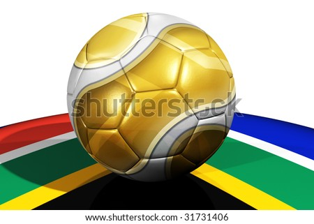 Football on South African flag